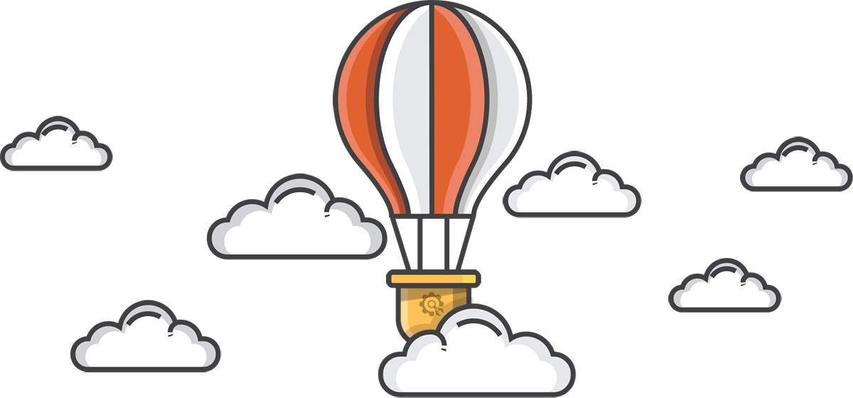 Hot Air Baloon flying